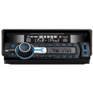 Dual XDMA7650 Car CD/MP3 Player - 72 W RMS - iPod/iPhone Compatible - Single DIN - LCD Display - CD-RW - MP3, WMA - AM, FM - 18, 12 x FM, AM Preset - USB - Auxiliary Input - Detachable Front Panel