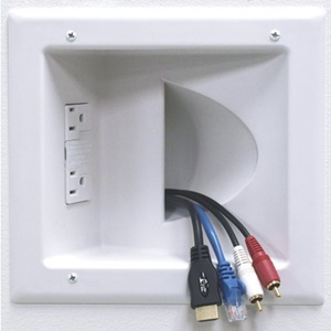 Datacomm Recessed Low Voltage Media Plate - 1 x Socket(s)