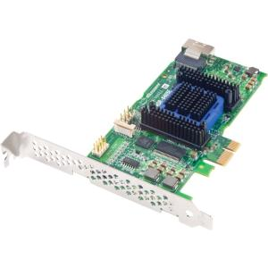 Adaptec 6405 4-port SAS RAID Controller - Serial Attached SCSI (SAS), Serial ATA/600 - PCI Express x8 - Plug-in Card - RAID Supported - 0, 1, 1E, 5, 5EE, 6, 10, JBOD RAID Level - 512 MB