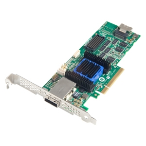Adaptec 6445 8-port SAS RAID Controller - Serial Attached SCSI (SAS), Serial ATA/600 - PCI Express x8 - Plug-in Card - RAID Supported - 0, 1, 1E, 5, 5EE, 6, 10, 50, 60, JBOD RAID Level - 512 MB
