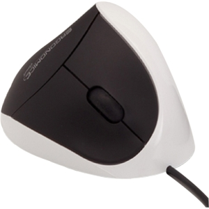 USB White Comfi Ergonomic Mouse By Ergoguys - USB - 1000 dpi