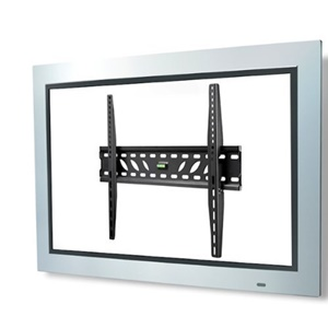 "Telehook TH-3060-UF TV low profile wall fixed mount universal VESA with security feature black - For Flat Panel Display - 32"" to 60"" Screen Support - Steel - Black"