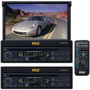 Pyle PLTS73FX Car DVD Player - 7&quot; Touchscreen LCD - 320 W RMS - Single DIN - DVD Video, MP4 - FM, AM - Secure Digital (SD), MultiMediaCard (MMC) - Auxiliary InputIn-dash
