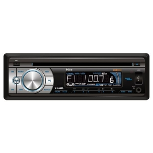 Boss 738UA Car CD/MP3 Player - 240 W RMS - iPod/iPhone Compatible - Single DIN - CD-RW - MP3 - AM, FM - 24 x AM/FM Preset - Secure Digital (SD) Card - USB - Auxiliary Input - Detachable Front Panel