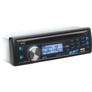 Boss 637UA Car CD/MP3 Player - 240 W RMS - iPod/iPhone Compatible - Single DIN - CD-RW - MP3, WMA - AM, FM - 30 x AM/FM Preset - USB - Auxiliary Input - Detachable Front Panel