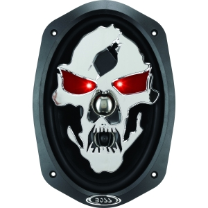 "Boss PHANTOM SKULL SK693 Speaker - 3-way - 45 Hz to 20 kHz - 4 Ohm - 6"" x 9"""