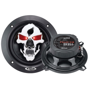 Boss PHANTOM SKULL SK552 Speaker - 2-way - 85 Hz to 20 kHz - 4 Ohm - 5.25""