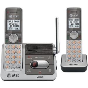 AT&T CL82201 Cordless Phone - DECT - Silver, Black - 1 x Phone Line - 2 x Handset - Answering Machine - Caller ID - Speakerphone - Backlight