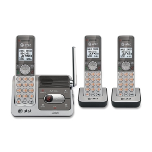AT&amp;T Cordless Phone - DECT - Silver, Black - 1 x Phone Line - 3 x Handset - Answering Machine - Caller ID - Speakerphone - Backlight