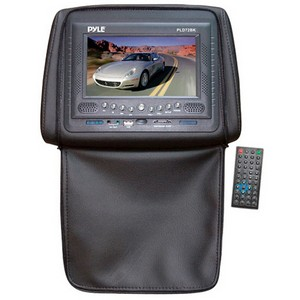Pyle PLD72BK Car DVD Player - 16:9 - Headrest-mountable