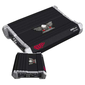 Power Acoustik CRYPT CPT4-800 Car Amplifier - 800 W PMPO - 4 Channel - Class AB - 90 dB SNR - 4 x 80 W @ 4 Ohm - 4 x 100 W @ 2 Ohm