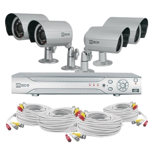 Mace MaceView MVK-SQ4CH4CAMB Video Surveillance System - 4 x Camera, Digital Video Recorder - H.264 Formats - 500 GB Hard Drive