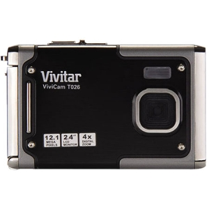 Vivitar ViviCam T026 12.1 Megapixel Compact Camera - Red - 2.4&quot; LCD - 4000 x 3000 Image - 640 x 480 Video - PictBridge