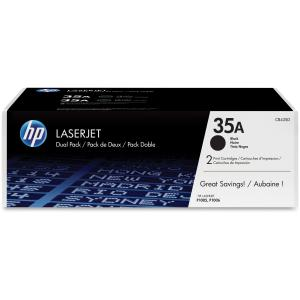 HP 35A Dual-Pack Toner Cartridge - Black - Laser - 1500 Page - 2 / Pack