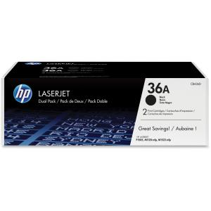HP 36A Dual-Pack Toner Cartridge - Black - Laser - 2000 Page - 2 / Pack