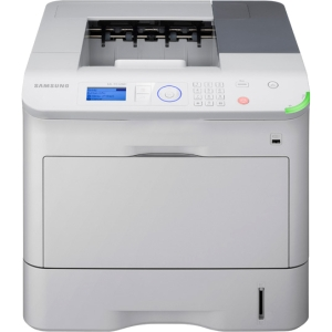 Samsung ML-6512ND Laser Printer - Monochrome - 1200 x 1200 dpi Print - Plain Paper Print - Desktop - 65 ppm Mono Print - 620 sheets Input - Automatic Duplex Print - LCD - Gigabit Ethernet - USB