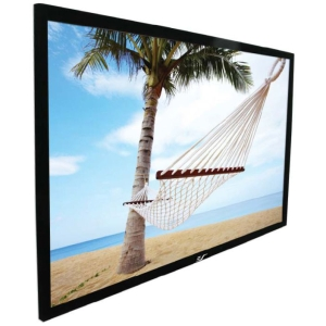"Elite Screens ezFrame Fixed Frame Projection Screen - 59"" x 104"" - Tension White - 120"" Diagonal"