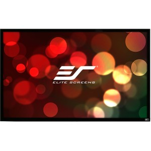 "Elite Screens ezFrame Fixed Frame Projection Screen - 45"" x 80"" - Tension White - 92"" Diagonal"