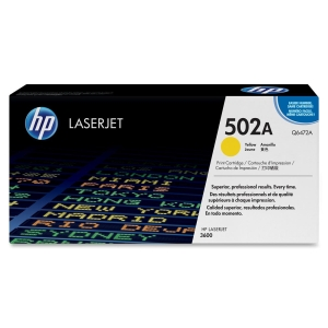 HP 502A Toner Cartridge - Yellow - Laser - 6000 Page - OEM