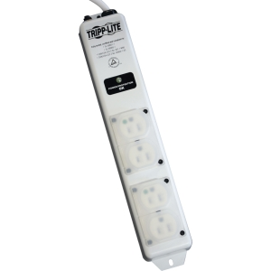 Tripp Lite SPS415HGULTRA 4-Outlets Hospital Grade Surge Suppressor - Receptacles: 4 x NEMA 5-15R