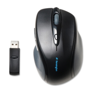 Kensington Pro Fit K72370US Mouse - Optical - Wireless - Radio Frequency - Black - Retail - USB - 1200 dpi - Scroll Wheel - Right-handed Only
