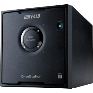 Buffalo DriveStation Quad HD-QLU3R5 DAS Array - 4 x HDD Installed - 8 TB Installed HDD Capacity - Serial ATA/300 Controller - RAID Supported - 4 x Total Bays - USB 3.0