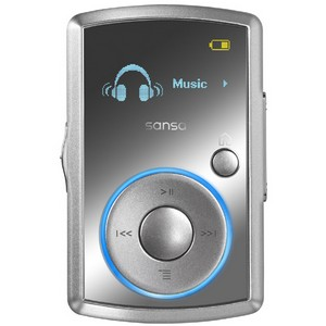 SanDisk SDMX18R-004GW-A57 4 GB Flash MP3 Player - White - Voice Recorder, FM Tuner - OLED - MP3, WMA, Audible, Ogg Vorbis, FLAC - 15 Hour