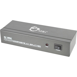 SIIG 1x4 Composite Video &amp; Audio Splitter - 1 x 4