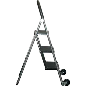 Conair Travel Smart TS31LHT LadderKart Professional Grade Stepladder/Hand Cart - 250.00 lb Capacity, 300.00 lb Capacity - 2 x 4&quot; Caster - 51.0&quot; x 16.0&quot;3.0&quot;