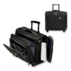 "Samsonite Mobile Office Wheeled Notebook Case - Side-loading - 16.5"" x 18.25"" x 9"" - Ballistic Nylon, EVA (Ethylene Vinyl Acetate) - Black"