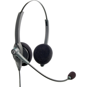 VXi Passport 21P DC Headset - Stereo - Quick Disconnect - Wired - Over-the-head - Binaural - Semi-open - Noise Cancelling Microphone
