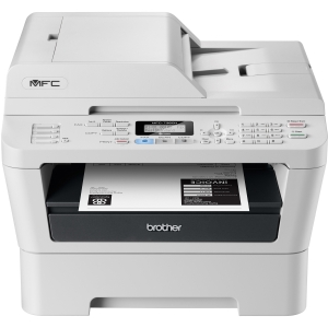 Brother MFC-7360N Laser Multifunction Printer - Monochrome - Plain Paper Print - Desktop - Printer, Copier, Scanner, Fax - 24 ppm Mono Print - 2400 x 600 dpi Print - 24 cpm Mono Copy LCD - 600 dpi Optical Scan - 250 sheets Input - Fast Ethernet - USB