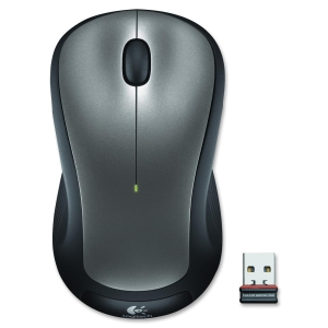 Logitech M310 Wireless Mouse - Laser - Wireless - Radio Frequency - Silver, Black - USB - Scroll Wheel - Symmetrical