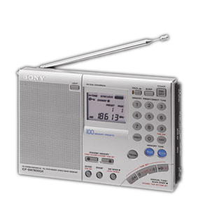 Sony ICF-SW7600GR Digital World Band Radio Tuner - 100 Presets