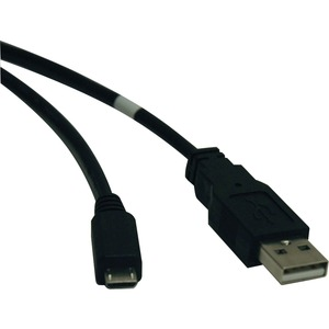 Tripp Lite U050-010 USB Cable Adapter - USB - 10 ft - Type A Male USB - Micro Type B Male USB - Black