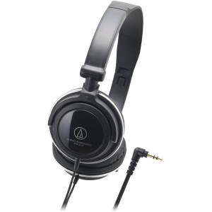 Audio-Technica ATH-SJ11 Headphone - Stereo - Black - Mini-phone - Wired - 32 Ohm - 15 Hz 22 kHz - Gold Plated - Dynamic - Over-the-head - Binaural - Ear-cup - 3.94 ft Cable