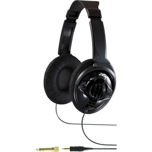 JVC HA-X580 Headphone - Stereo - Mini-phone, Phono - Wired - 32 Ohm - 7 Hz 21 kHz - Gold Plated - Over-the-head - Binaural - Circumaural - 9.84 ft Cable