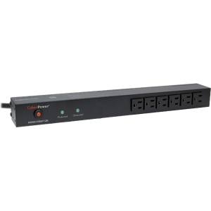 CyberPower Rackbar Surge Suppressor RM 1U RKBS15S6F12R 15A 18-Outlet - Receptacles: 18 x NEMA 5-15R - 3600J