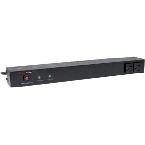 CyberPower Rackbar Surge Suppressor RM 1U RKBS20S2F12R 20A 14-Outlet - Receptacles: 14 x NEMA 5-20R - 1800J