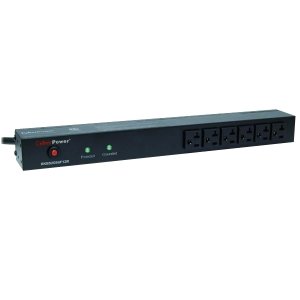 CyberPower Rackbar Surge Suppressor RM 1U RKBS20S6F12R 20A 18-Outlet - Receptacles: 18 x NEMA 5-20R - 1800J