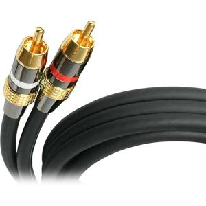 StarTech.com 30 ft Premium Stereo Audio Cable RCA - M/M - 30 ft - 1 x RCA Male Audio - 1 x RCA Male Audio - Black