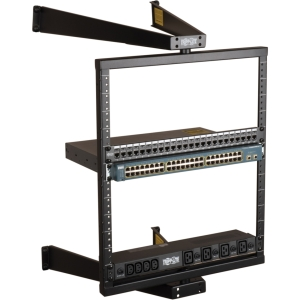 Tripp Lite SmartRack SRWO12US Wall-Mount Pivoting Open Rack Frame - 12U Wall Mounted