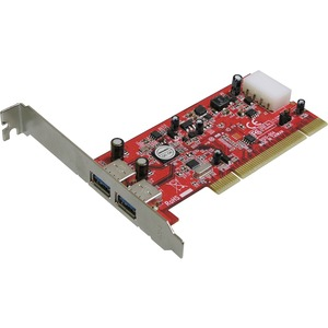 Addonics AD2U3PCI 2-port PCI USB Adapter - 2 x 4-pin Type A USB 3.0 USB - Plug-in Card