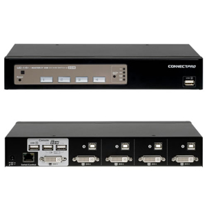 Connectpro UD-14+KIT 4-port DVI KVM with Cables - 4 Port