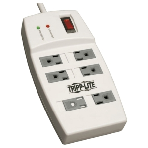 Tripp Lite Protect It! TLP64 6-Outlets Surge Suppressor - 6 x NEMA 5-15R - 1.80 kVA - 540 J - 125 V AC Input - 125 V AC Output