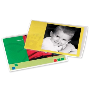 "Fellowes Glossy Pouches - Photo, 3 mil, 25 pack - 4.50"" Width x 6.25"" Length x 3 mil Thickness - Type G - Glossy - Durable - 25 / Pack - Clear"