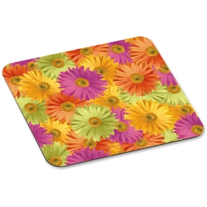 "3M Daisy Design Mouse Pad - 8"" x 9"" Dimension - Foam"