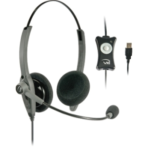 VXi TalkPro USB2 Headset - Stereo - USB - Wired - Over-the-head - Binaural - Semi-open - Noise Cancelling Microphone
