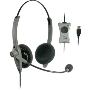 VXi TalkPro UC2 Headset - Stereo - USB - Wired - Over-the-head - Binaural - Semi-open - Noise Cancelling Microphone