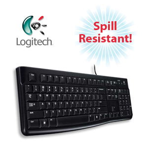 Logitech Keyboard K120 - Spill-Resistant Durable Design